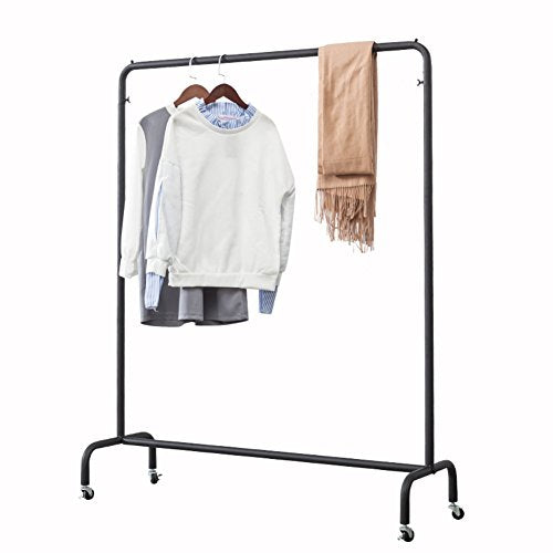 LE Clothes rack LE Industrial Pipe/Clothing Rack, Floor-mounted Simple Removable Hanger, Heavy Duty/Commercial Grade/Clothing/Garment Rack/with Wheels,150165cm