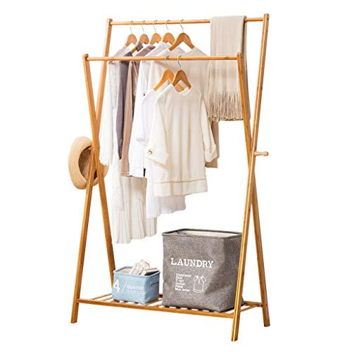 Dika UK Coat Racks Free Standing Wooden Clothing Garment Rack Coat Organizer Storage Shelving Unit Entryway Storage Shelf for Storage of Shoes and Clothes Wooden Product(Wood Color