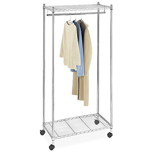 Acazon Drying Rack,Double Layer Electroplated Iron Garment Rack with 2