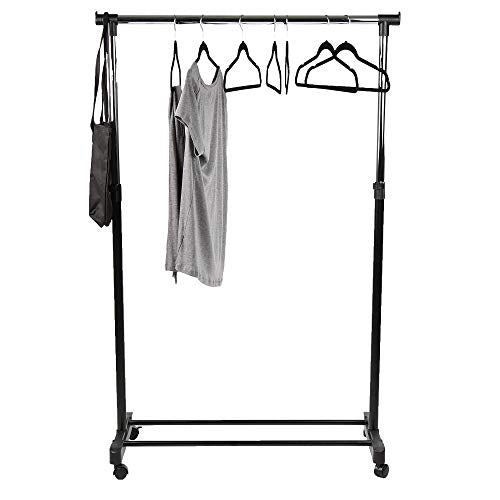 Mind Reader OGGARM-SIL Garment Rack, Black