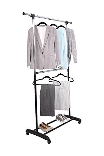 Mainstays Adjustable 2-Tier Garment Rack