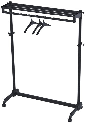 Alba One-Sided Mobile Garment Rack with Single Shelf, Includes 3 Hangers, Black (PMRAK-SG483N)