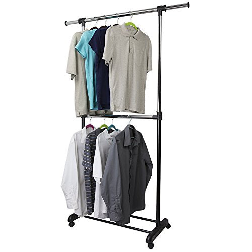 Home Basics 2 Tier Expandable Garment Clothing Rack