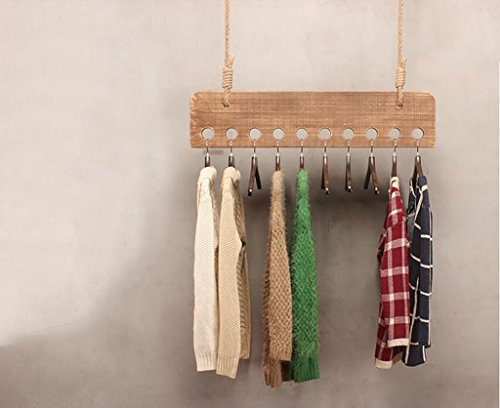 Ymj Clothing Shop Retro Display Stand, On The Wall Is Hanging Wooden Children's Clothing Store Shelves, Clothes Racks, Women's Shop Hanger Hangers (Size : 150cm)