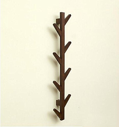 Ymj Coat Rack Garment Hanger Creative On The Wall Solid Wood Hook Hanger Bedroom Wall Living Room Wall Hanger Drying Racks (Color : A, Size : 72298cm)