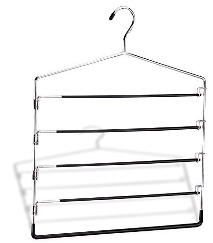 Organize It All 5-Tier Swinging Arm Pant Rack (Stainless Steel)
