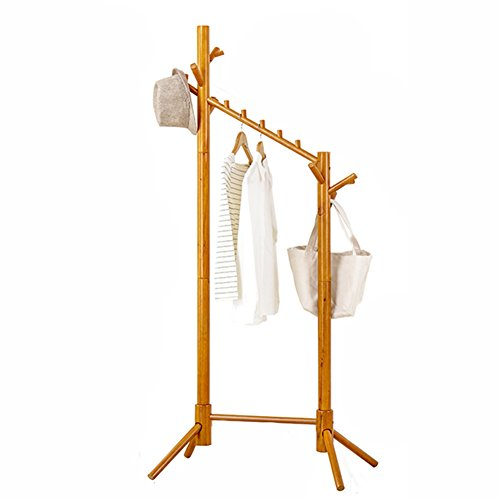 Yxsd Coat Rack, Tree-Shaped Floor, Solid Wood Hanger, Two-in-one Clothing Storage Rack, Multi-Purpose Coat Rack