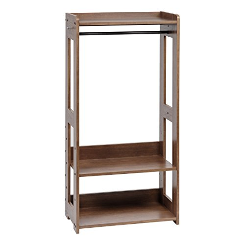 IRIS USA Kid's Clothing Garment Rack, Dark Brown