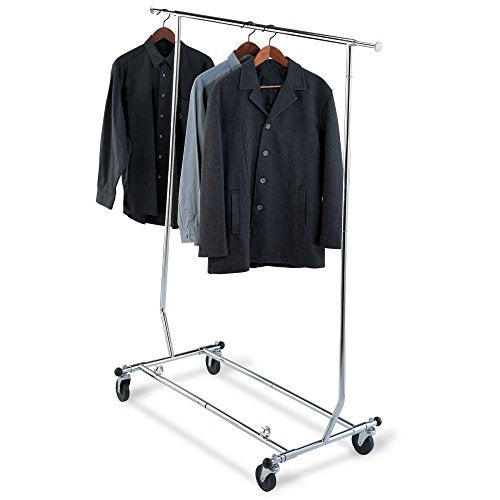 Organize It All Heavy Duty Chrome Rolling Garment Rack