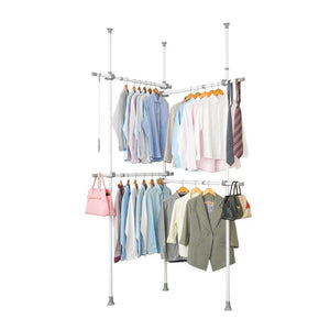 "Garment Racks Adjustable Closet Organizer with 440lb Load Heavy Duty Hang Clothes Rack for Storage and Display, 55"" x 97"" Expands to 102"" x 119"""