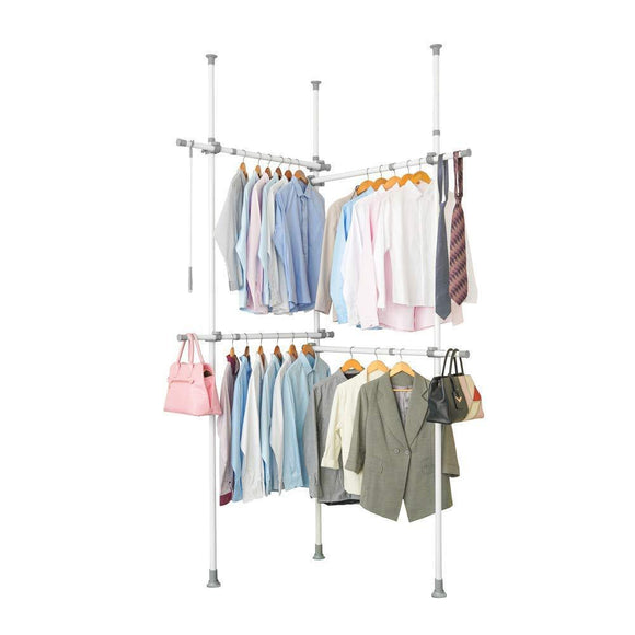 Garment Racks Adjustable Closet Organizer with 440lb Load Heavy Duty Hang Clothes Rack for Storage and Display, 55