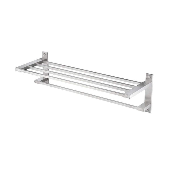 Great kes sus304 stainless steel 22 hotel towel rack bathroom shelf shower towel bar rust proof wall mount contemporary style space saving for multi hand towels brushed finish a2410s60 2