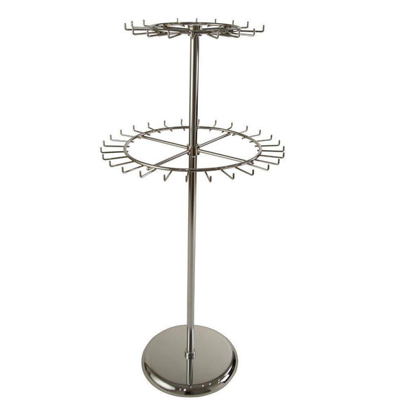 BELT OR TIE DOUBLE TIER REVOLVING RACK WITH SQUARE BASE