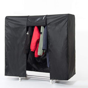 "Garment Rack Cover, 59"" Large Rolling Rack Cover Only, Heavy Duty Z Rack Cover with 2 Full Strong Zipper, Black Wardrobe Clothing Rack Cover, Clothes Storage Cover for Dance Costumes, Dress, Suits"