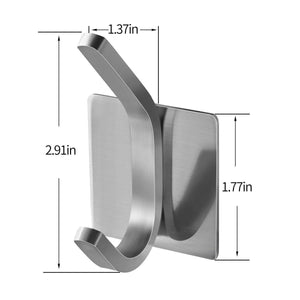 Buy fle coat hooks adhesive hooks bathroom towel hooks wall hooks stainless steel hooks bath robe hook wall mount 4 pack