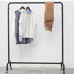 lililili Coat Racks,Floor Standing Multifuctional Hanger,Industrial pipe Clothing rack, Heavy duty Commercial grade Clothing Garment rack With wheels-D 55x65inch