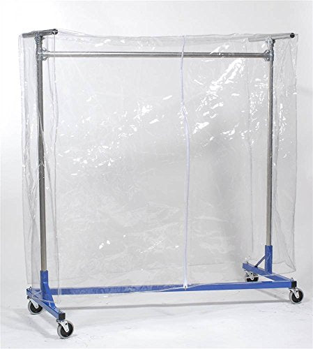 Clear Vinyl Cover with Zipper for 48 in. Z-Rack Garment Racks