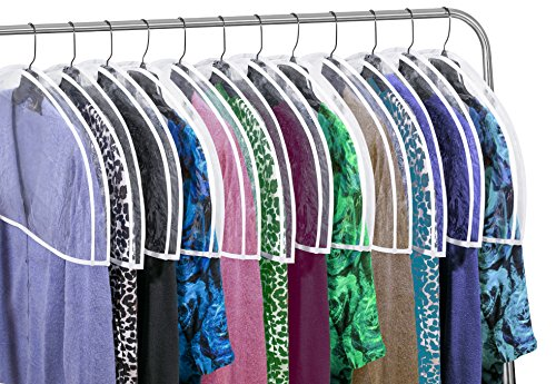 Clear Vinyl Shoulder Covers Closet Suit Protects Storage Home Decor Set of 12, 12