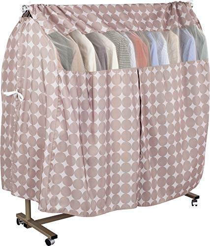 1Storage Garment Rack Fully Cover, keep clothes clean, prevent from dust, Breathable & Washable, LightBrown 611-08A