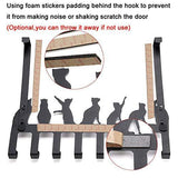 Buy now wintek over the door hook hanger heavy duty organizer rack for towel coat bag 8 hooks black