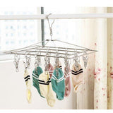 Related duofire stainless steel clothes drying racks laundry drip hanger laundry clothesline hanging rack set of 26 metal clothespins rectangle for drying clothes towels underwear lingerie socks