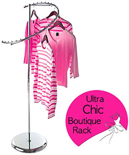 Only Garment Racks 2358 Spiral Boutique Rack Only Garment Racks Semi Spiral Boutique Clothes Rack - Elegantly Displays Over Two Dozen Garments!