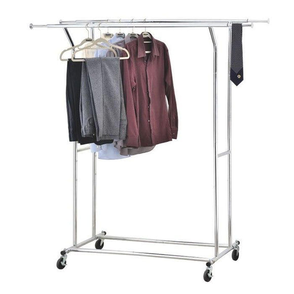 Double Commercial Garment Rack