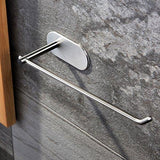 Home venagredos self adhesive towel bar hand dish towel rack stick on towel holder for bathroom kitchen no drilling