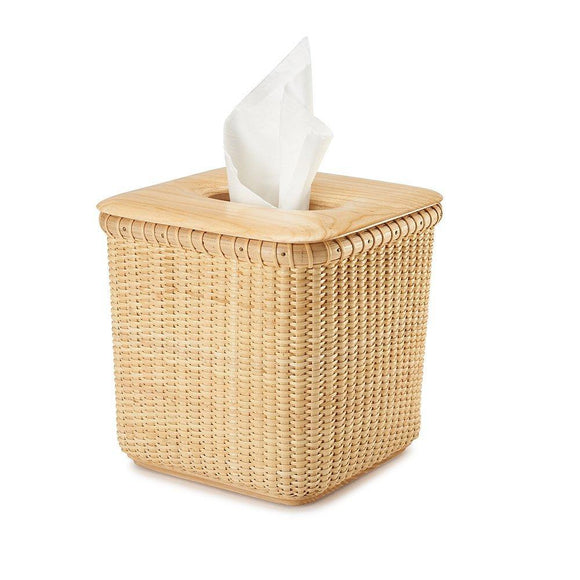Buy now tengtian nantucket basket extraction paper basket tissue boxtoilet paper storage containers paper towel holders woven rattan handwoven square rattan tissue box cover office kitchen bath livingoak