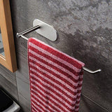 Get venagredos self adhesive towel bar hand dish towel rack stick on towel holder for bathroom kitchen no drilling