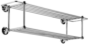 Featured ws bath collections venessia collection double towel rack 29 9 polished chrome