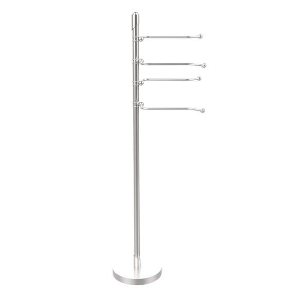 Shop for allied brass sh 84 sch soho collection 4 swing arm towel stand satin chrome