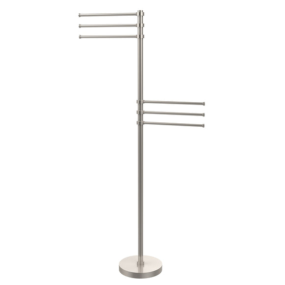 Selection allied brass ts 50 sn 49 inch towel stand with 6 12 inch arms satin nickel