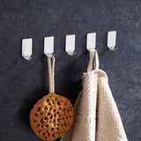 Discover the adhesive hooks heavy duty wall hooks stainless steel waterproof hanger for kitchen bathroom bags towel coat keys robe home offices8 small 8 big