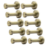 On amazon webi 10 set brass round clou robe coat bath kitchen towel hook single wall door mount hat garment rack holder closet clothing hanger rail entryway garage home office organizer storage antique bronze
