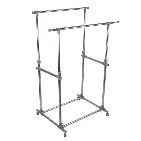 Double Garment Rack Stainless