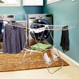Selection heavy duty laundry drying rack chrome steel clothing shelf for indoor and outdoor use best used for shirts pants towels shoes by everyday home