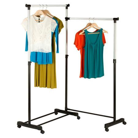 Rotatable Double Garment Rack