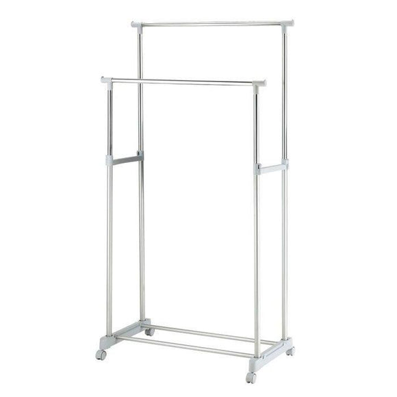 Double Garment Rack- White