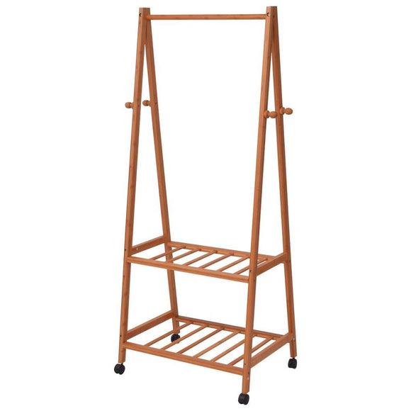 Clothing Rack Bamboo 73.5x45x154 cm