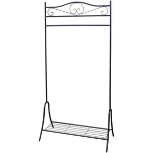 Clothing Rack Black Steel