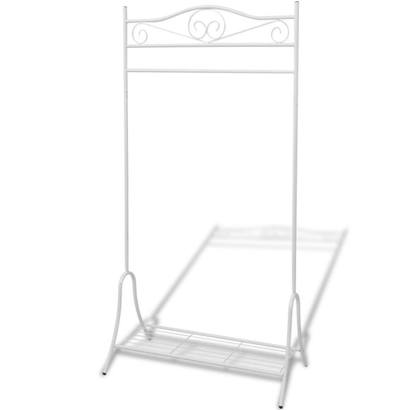 Clothing Rack White Steel