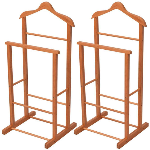 Clothing Racks 2 pcs Bamboo 46x40x95 cm