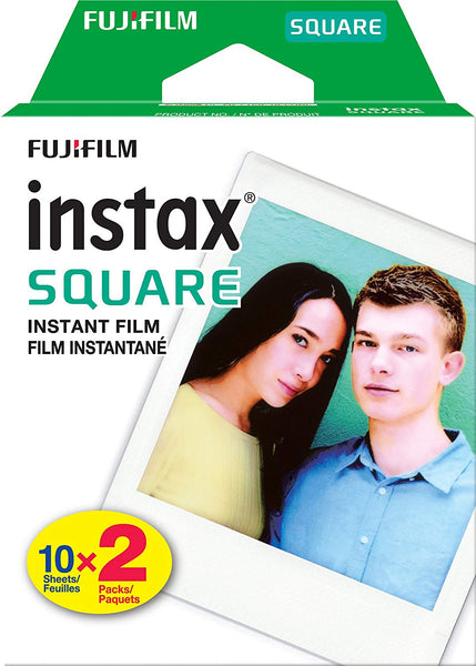 Fujifilm Instax Square SQ6 Instant Film Camera(Ruby Red)+2 Pack of 10 Instax Square Films+ Camera Bag, Tripod, 2in1 Spray & Brush Lens Pen, and Quality Photo Microfiber Cloth (Ruby Red)