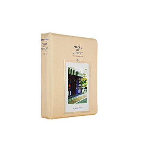 Quality Photo Instax Mini Photo Album. 64 Pocket Polaroid Mini Pocketsize Album. Compatible with Fuji Mini Instax Camera Films. (Cream White)