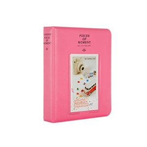 Quality Photo Instax Mini Photo Album. 64 Pocket Polaroid Mini Pocketsize Album. Compatible with Fuji Mini Instax Camera Films. (Pink)