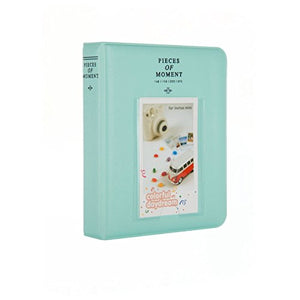 Quality Photo Instax Mini Photo Album. 64 Pocket Polaroid Mini Pocketsize Album. Compatible with Fuji Mini Instax Camera Films. (Ice Blue)