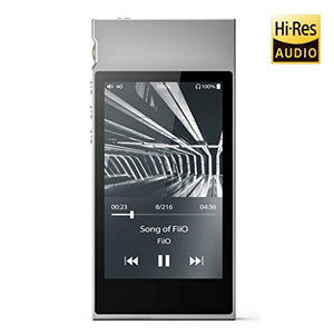 FiiO M7 High Resolution Lossless Music Player with aptX, aptX HD, LDAC HiFi Bluetooth, FM Radio and Full Touch Screen (Silver)