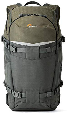 Lowepro Flipside Trek BP 350 AW Backpack (Gray/Dark Green) + Accessory Bundle For Canon, Nikon, Sony, Olympus, Pentax Digital SLR Cameras