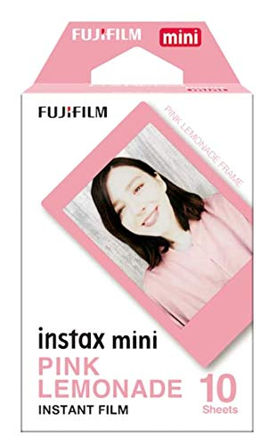Fuji Instax Films For Fujifilm Instax Mini Series Cameras 4 Assorted Designed Films+40 Stickers for films. 10 Films of each. Pink Lemonade, Black, Macaron And Sky blue.+ Quality Photo Microfiber Cloth